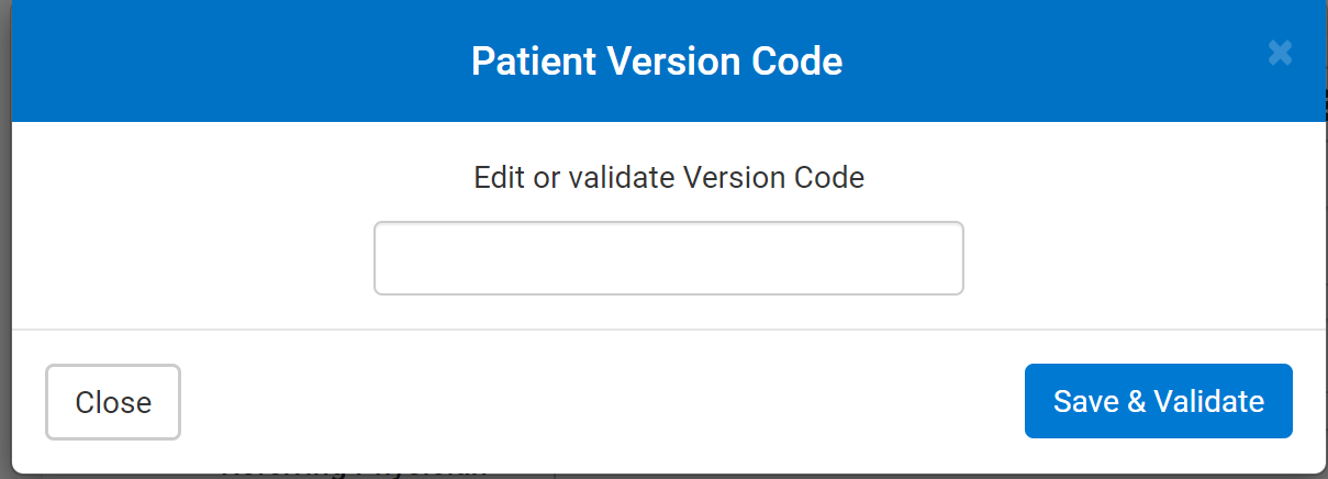 OHIP version code number editor window