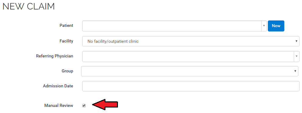 Manual review checkbox for stale dated OHIP claims